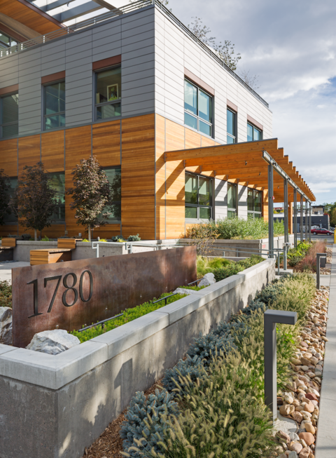 The LEED rainwater credit didn't apply to this green roof raingarden in Colorado.
