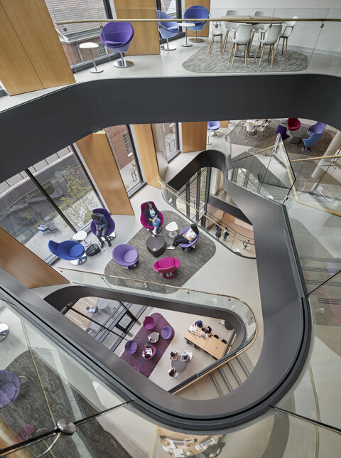 Rockwell Integrated Sciences Center staircase